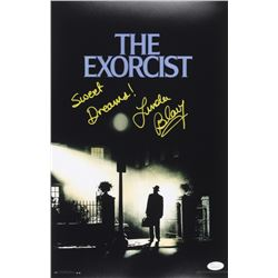 """Linda Blair Signed """"The Exorcist"""" 11x17 Movie Poster Inscribed """" Sweet Dreams!"""" (JSA COA)"""