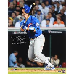 """David Ross Signed Cubs 16x20 Photo Inscribed """"16 WS CHAMPS"""" (Schwartz COA)"""