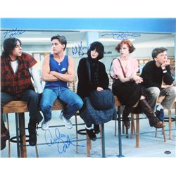 """The Breakfast Club"" 16x20 Photo Cast Signed by (4) with Judd Nelson, Molly Ringwald, Emilio Estevez"