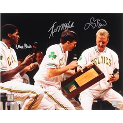 Larry Bird, Kevin McHale  Robert Parish Signed Celtics 16x20 Photo (Fanatics Hologram)
