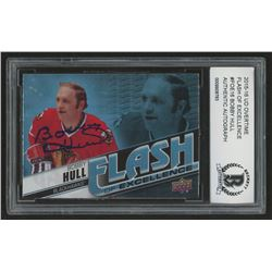 Bobby Hull Signed 2015-16 Upper Deck Overtime Flash of Excellence #FOE16 (BCCG Encapsulated)