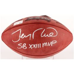 "Jerry Rice Signed Super Bowl XXIII Logo Football Inscribed ""SB XXIII MVP"" (Radkte COA  Rice Hologram"