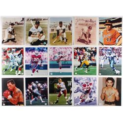 Lot of (15) Signed Multi-Sport 8x10 Photos with Monte Irvin, Tito Fuentes, Darrell Evans, Rick Mirer