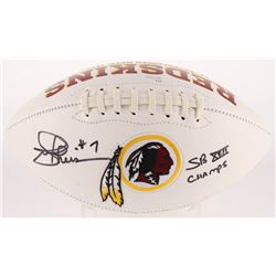 "Joe Theismann Signed Redskins Logo Football Inscribed ""SB XXII Champs"" (JSA Hologram)"