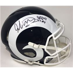 Todd Gurley Signed Rams Full-Size Speed Helmet with (3) Stat Inscriptions (Fanatics)