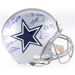 Dallas Cowboys Full-Size Authentic On-Field Helmet Signed By (8) With Roger Staubach, Tony Dorsett,