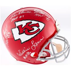 Kansas City Chiefs Authentic On-Field Full-Size Helmet Signed By (4) With Len Dawson, Jan Stenerud,