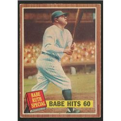 1962 Topps #139A1 Babe Ruth Special 5 / Babe Hits 60 Pole