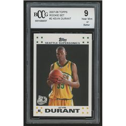 2007-08 Topps Rookie Set #2 Kevin Durant (BCCG 9)