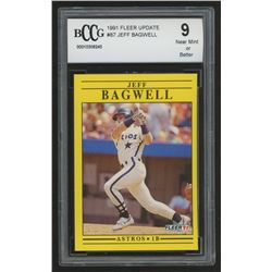 1991 Fleer Update #87 Jeff Bagwell RC (BCCG 9)