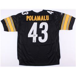 "Troy Polamalu Signed Steelers ""Super Bowl XL"" Jersey (Beckett COA  Mounted Memories Hologram)"