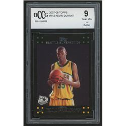 2007-08 Topps #112 Kevin Durant RC (BCCG 9)