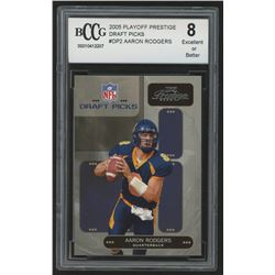2005 Playoff Prestige Draft Picks #DP2 Aaron Rodgers (BCCG 8)