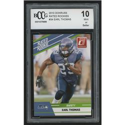 2010 Donruss Rated Rookies #34 Earl Thomas (BCCG 10)