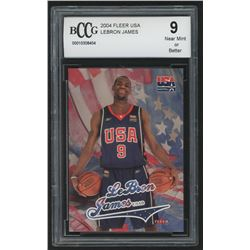 2004 Fleer USA #NNO LeBron James (BCCG 9)