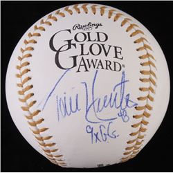 "Torii Hunter Signed Gold Glove Award Baseball Inscribed ""9x G.G."" (JSA COA)"
