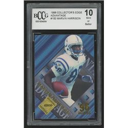 1996 Collector's Edge Advantage #150 Marvin Harrison RC (BCCG 10)