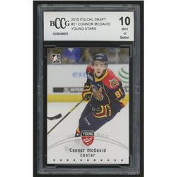 2015 ITG CHL Draft Black #21 Connor McDavid / Young Stars (BCCG 10)
