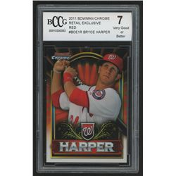 2011 Bowman Chrome Bryce Harper Retail Exclusive #BCE1R Bryce Harper Red (BCCG 7)