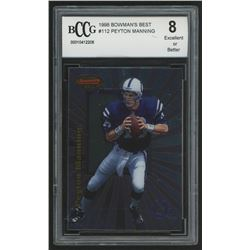 1998 Bowman's Best #112 Peyton Manning RC (BCCG 8)