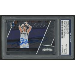 Dirk Nowitzki Signed 2017-18 Panini Prizm Get Hyped! #21 (PSA Encapsulated)