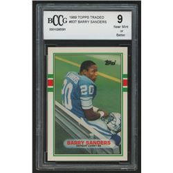 1989 Topps Traded #83T Barry Sanders RC (BCCG 9)