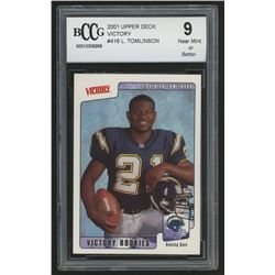 2001 Upper Deck Victory #416 LaDainian Tomlinson RC (BCCG 9)