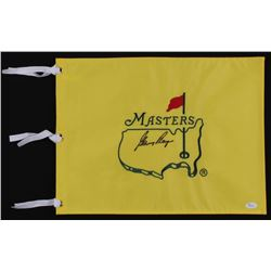 Gary Player Signed Masters Tournament Pin Flag (JSA COA)