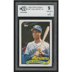 1989 Topps Traded #41T Ken Griffey Jr. RC (BCCG 9)