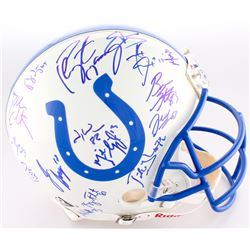 2005 Colts Authentic On-Field Full-Size Helmet Signed By (28) With Peyton Manning, Marvin Harrison,