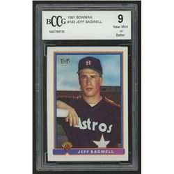 1991 Bowman #183 Jeff Bagwell RC (BCCG 9)