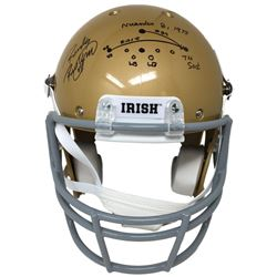 Rudy Ruettiger Signed Notre Dame Fighting Irish Schutt Full-Size Helmet with Hand-Drawn Play (JSA CO