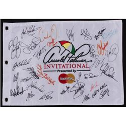 Arnold Palmer Invitational Pin Flag Signed by (33) with Rickie Fowler, Webb Simpson, Jason Day, Keeg