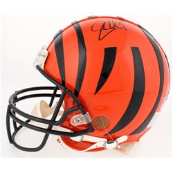 Carson Palmers Signed Bengals Authentic On-Field Full Size Helmet (Beckett Hologram)