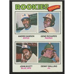 1977 Topps #473 Rookie Outfielders / Andre Dawson RC / Gene Richards RC / John Scott / Denny Walling