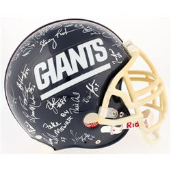 1986 Giants Authentic On-Field Full-Size Helmet Signed By (40) With Phil Simms, OJ Anderson, Mark Ba