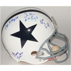 Cowboys Full-Size Helmet Signed By (4) With Bob Lilly, Jethro Pugh, Larry Cole (JSA COA)