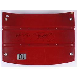 "Jerome Bettis Signed Game-Used Stadium Seat Back Inscribed ""Bus"" (Beckett COA)"