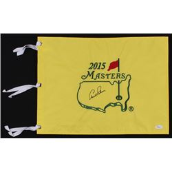 Arnold Palmer Signed 2015 Masters Tournament Pin Flag (JSA LOA)