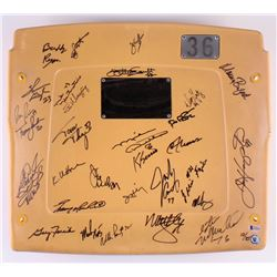 1986 Bears LE Soldier Field Game-Used Stadium Seat Back Signed By (30) With Jim McMahon, William Per