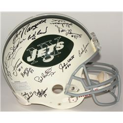 1969 Jets Authentic On-Field Full Size Helmet Signed By (27) With Joe Namath, Bake Turner, Bill Bair