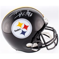 T.J. Watt Signed Steelers Full-Size Helmet (TSE COA)