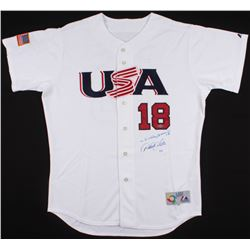 Derek Jeter  Johnny Damon Signed LE 2006 Team USA World Baseball Classic Team Jersey (Steiner COA)