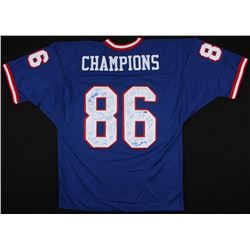 1986 Giants Jersey Team-Signed By (40) With Phil Simms, OJ Anderson, Mark Bavaro (Steiner COA)