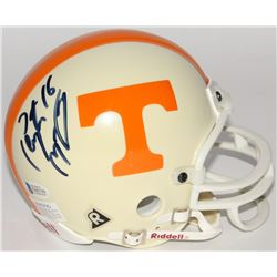 Peyton Manning Signed Tennessee Volunteers Mini Helmet (Beckett COA)
