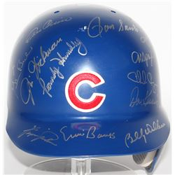 1969 Cubs LE Full-Size Batting Helmet Team-Signed By (18) With Ron Santo, Ernie Banks, Fergie Jenkin
