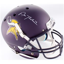Adam Thielen Signed Vikings Custom Matte Purple Full-Size Helmet (TSE COA)