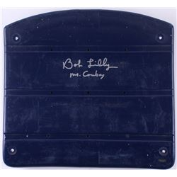 "Bob Lilly Signed Game-Used Stadium Seat Bottom Inscribed ""Mr. Cowboy"" (Schwartz COA)"