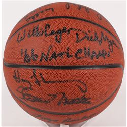 1965-66 Texas Western Miners LE Basketball Signed By (14) With Willie Worsley, Nevil Shed, Willie Ca