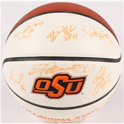 2004-05 Oklahoma State Cowboys Logo Basketball Team-Signed By (12) With Joey Graham, Aaron Pettway,